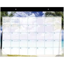17 Month Calendar At A Glance Tropical Escape Calendar Monthly Desk Pad Yes