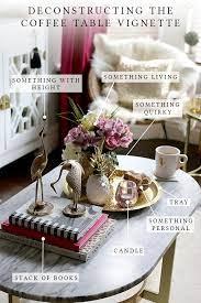 coffee table vignettes