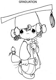 Small Picture Graduation Precious Moments Coloring Pages Coloring Pages