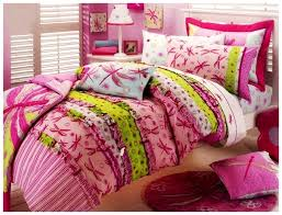 bedding sets for teenage girls with pink dragonfly