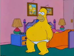 Resultado de imagen de Homer haciendo ejercicio