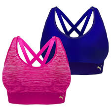 Puma Sports Bra Size Chart Puma Sports Bra Seamless Strappy Back Removable Cups Tag Free 2 Pack