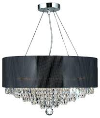 contemporary black chandelier black chandelier ceiling lights 8 light chrome finish and crystal chandelier black acrylic drum shade contemporary modern