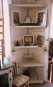 corner shelves made from old doors ideas for recycled