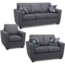 fabric sofa set. Sofa Express By Fancy Alex Collection 3-piece Fabric Set In Stallion Anthracite Grey A