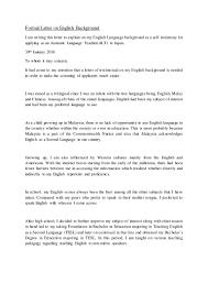 Formal Letter English Formal Letter On English Background