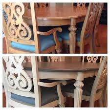 Dining Table And Chairs Valspar Chalky Finish Paint Top Opera Gown