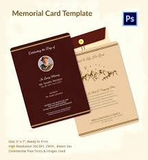 Memorial Card Template Memorial Card Template Free Elegant 65 Free Free Card Templates For