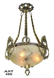 vintage hardware lighting antique edwardian ceiling bowl pendant light fixture circa 1910 1930 ant 498