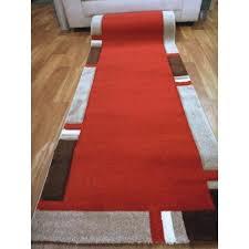 17mm thick high quality modern hall runner ruby red 80cm x 5m