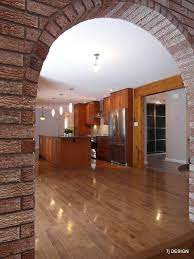 brick arch house traditional