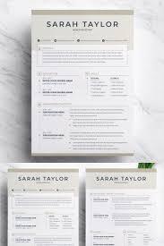 Sarah Taylor Resume Template 74556 Social Media Graphics Design