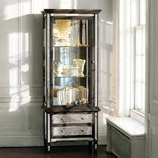 Mirrored Living Room Furniture Isla Mirrored Curio Cabinet Arhaus New Arrivals Pinterest