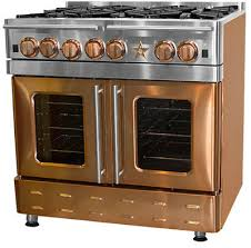 french top range. BlueStar Precious Metals Collection RNB364FTPMV2NG - Infused Copper (6 Burner Range Pictured) French Top