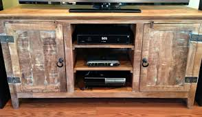 wood tv stand ideas. rustic reclaimed wood tv stand with shelves and double door for home furniture ideas i