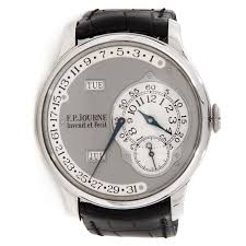 pre owned f p journe octa calendrier platinum auto 38mm grey dial pre owned f p journe octa calendrier platinum auto 38mm grey dial mens watch retro date