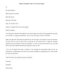 Formal Letter Complaint Sample Complaint Letter Template Letter