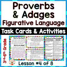Anchor Chart Figurative Language Proverbs And Adages Anchor Charts And Activities