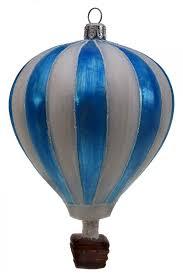 Weihnachtsschmuck Heißluftballon Blau Weiß