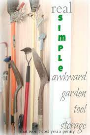 real simple garden tool storage the