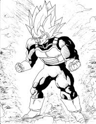 Dragon Ball Z Coloring Page Vegeta Printable Coloring Page For Kids