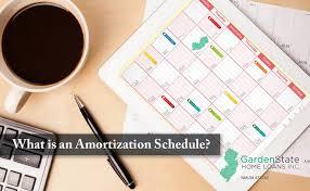 Ameritization Schedule What Is An Amortization Schedule Garden State Home Loans