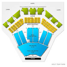 Farm Bureau Live Seating Chart With Rows And Seat Numbers Wolf Trap Seating Chart Pit Seating Chart