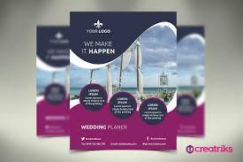 Wedding Flyer Wedding Service Flyer Flyer Templates Creative Market 1