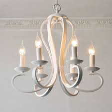 simple 6 light modern chandeliers painting gray white