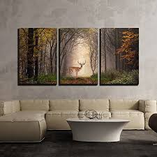 deer wall art pieces 3 piece canvas wall art fallow deer standing in a on wall art pieces with deer wall art kritters in the mailbox deer artwork for home or