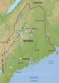 Maine Of Map Physical Physical Map