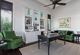 Contemporary Home Office Design Beauteous Coastal Contemporary Transitional Home Office Library Miami