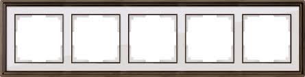 <b>Рамка</b> на <b>5 постов</b> (бронза/белый)
