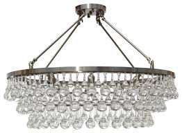 celeste flush mount glass drop crystal chandelier chrome 32