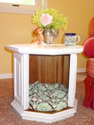 nightstand dog bed dog crate nightstand diy beds for your loving pet friends ideas