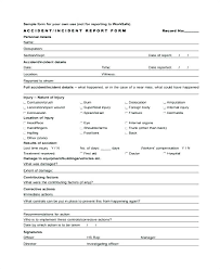 First Aid Incident Report Form Template To Example Best Professional