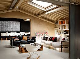 Former biscuit factory in Florence historic center in Italy, had the attics  recovered and transformed by Studio Q-bic, in a multi-functional loft.