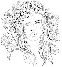 Adult Coloring Pages People At Getdrawingscom Free For Personal