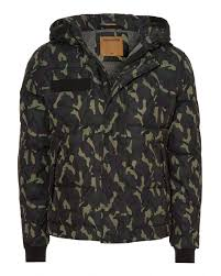 mens hooded jacket down filled camouflage coat
