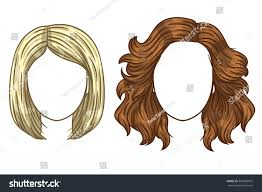 Type Of Hair Style vector womens haircut fashionable womens hair stock vector 8119 by wearticles.com