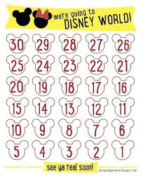 Disney Countdown Calendar Template Blank Birthday Strand Vs Coding ...
