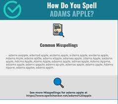 Apple may provide or recommend responses as a possible solution based on the information. Correct Spelling For Adams Apple Infographic Spellchecker Net