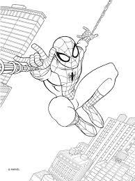 раскраска с красками человек паук Marvel
