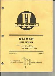 oliver tractor manual