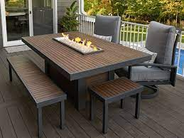 rectangle fire pit tables patioliving