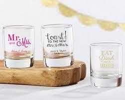 personalized shot glass wedding favors shot glass bridal favors