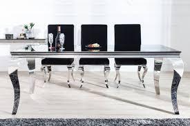 Casa Padrino Luxus Esszimmer Set Schwarzsilber Esstisch