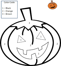 Small Picture Halloween Color by Number Coloring Pages coloring Pages