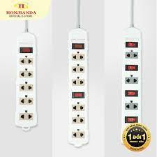 Ổ cắm điện Honjianda Mã 09 6A/10A Dây 3 mét - an toàn chống quá tải giá  cạnh tranh