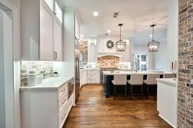 open kitchen features neutral cabinets